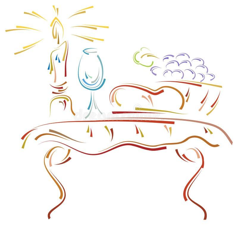 Tabla de comunión del movimiento del cepillo stock de ilustración