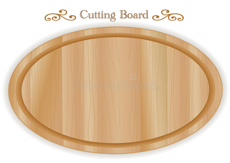 Tabla de cortar de madera, oval libre illustration