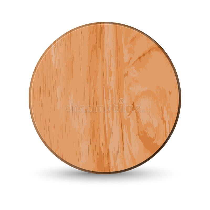 Tabla de cortar de madera realista, ilustración del vector