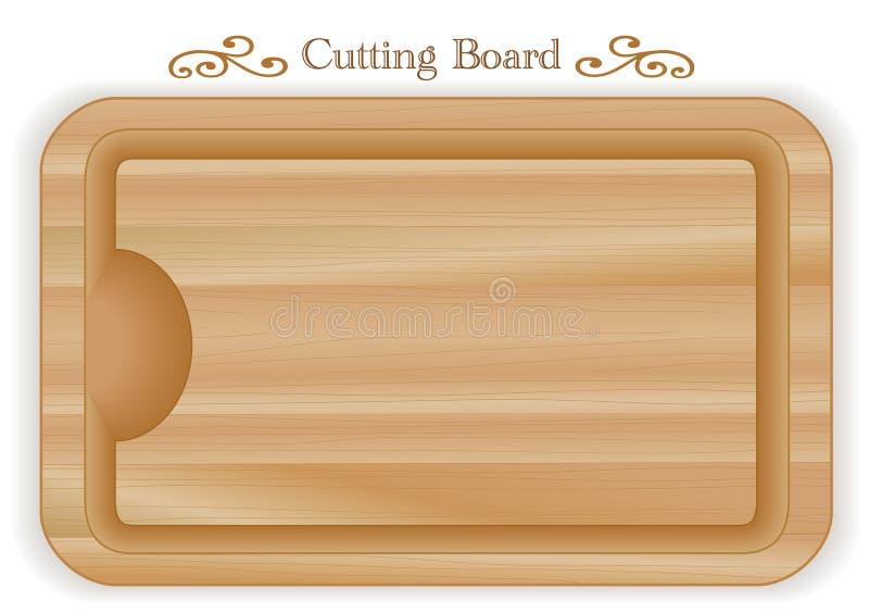 Tabla de cortar de madera, rectángulo ilustración del vector