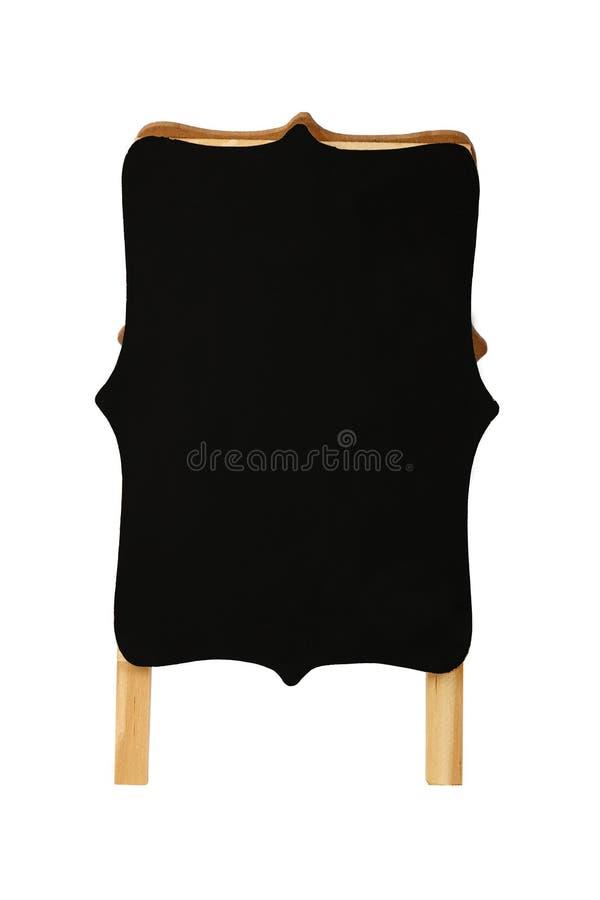 Tabla de cortar de madera formada aislada en blanco imagen de archivo libre de regalías
