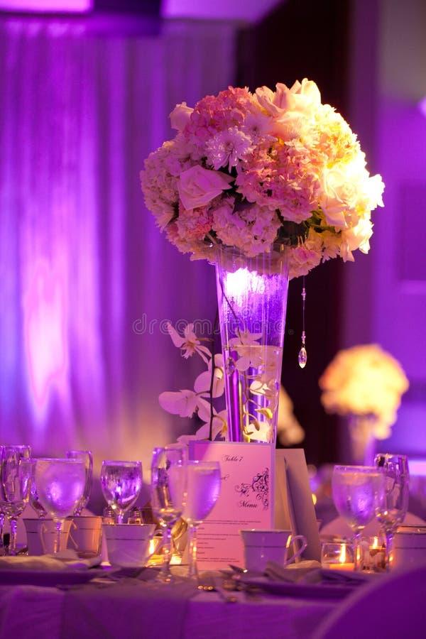 Tabla de la boda fotos de archivo