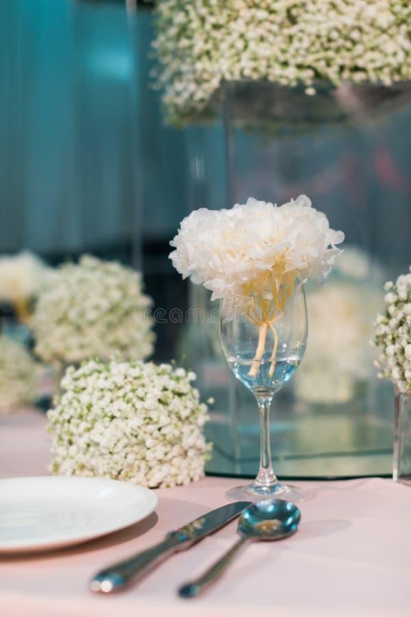 Tabla de la boda foto de archivo