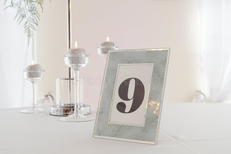Tabla de la boda del encanto fotografía de archivo libre de regalías