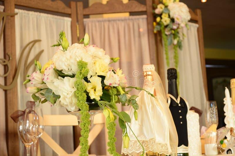 Tabla de la boda del hermoso diseño fotografía de archivo