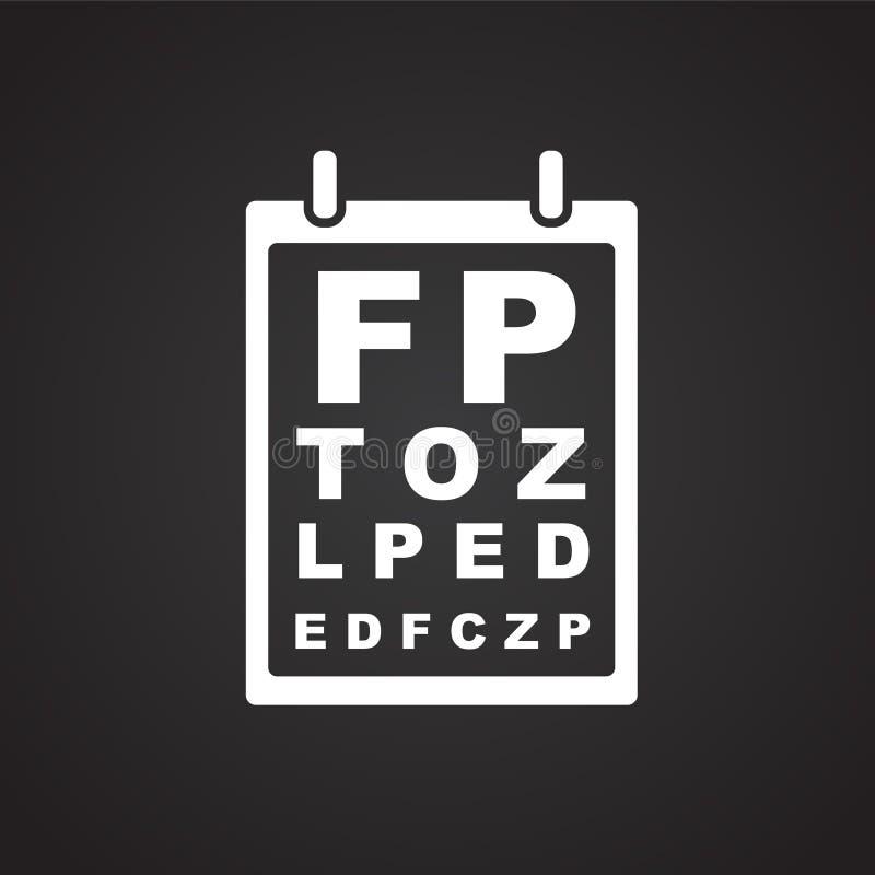 Tabla de la prueba de Vision en fondo negro libre illustration