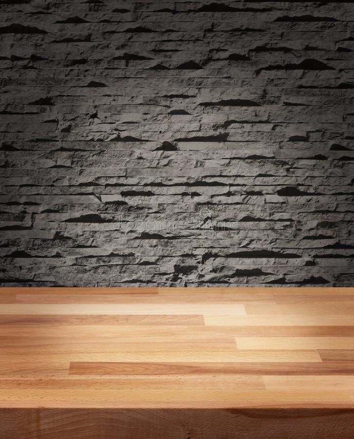 Tabla de madera de la plantilla de la foto del producto imagen de archivo
