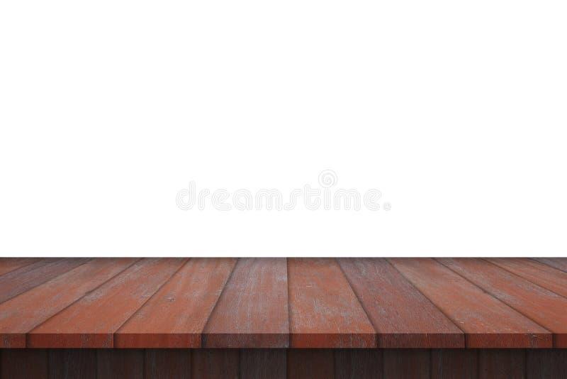 Tabla de madera del estante aislada fotos de archivo