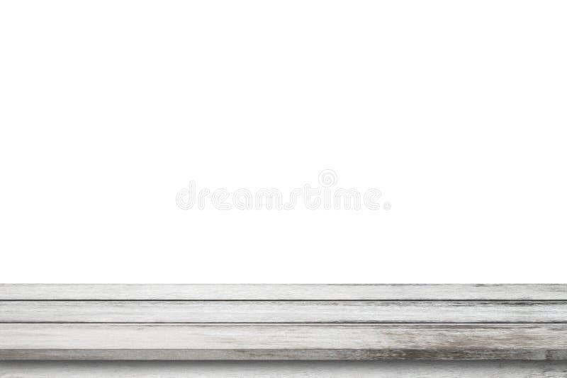 Tabla de madera gris en el fondo blanco imagen de archivo