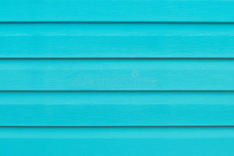Tabla de madera de la turquesa en líneas Fondo rayado Textura de madera verde de los listones Tablón - madera El azul pintó a los imagen de archivo libre de regalías