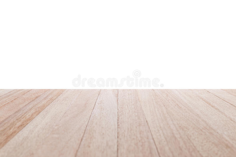 Tabla de madera superior aislada en el fondo blanco imagen de archivo libre de regalías