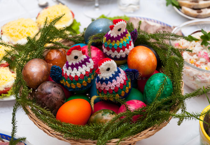 Tabla de Pascua fotos de archivo libres de regalías