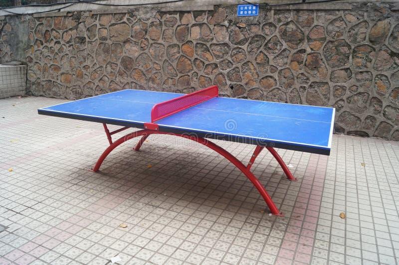 Tabla de ping-pong fotografía de archivo libre de regalías