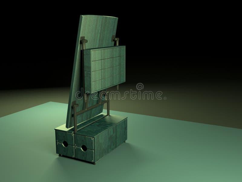Tabla de plegamiento 3d model-3 imagen de archivo libre de regalías