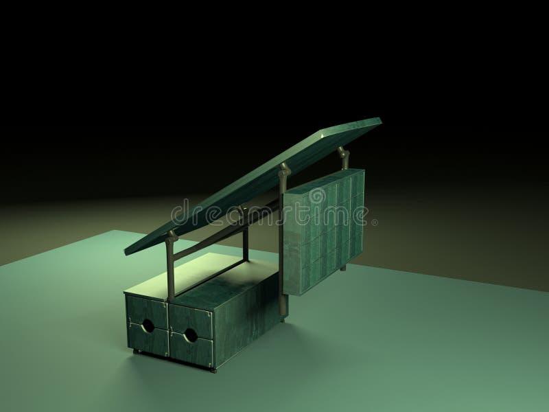 Tabla de plegamiento 3d model-2 fotos de archivo