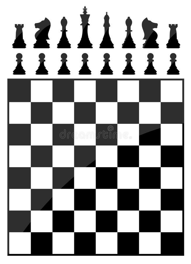 Tabla del ajedrez ilustración del vector