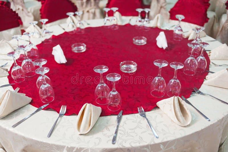 Tabla del banquete de boda imagen de archivo