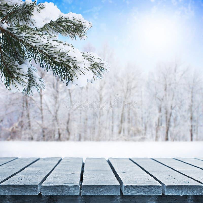 Tabla del invierno imágenes de archivo libres de regalías