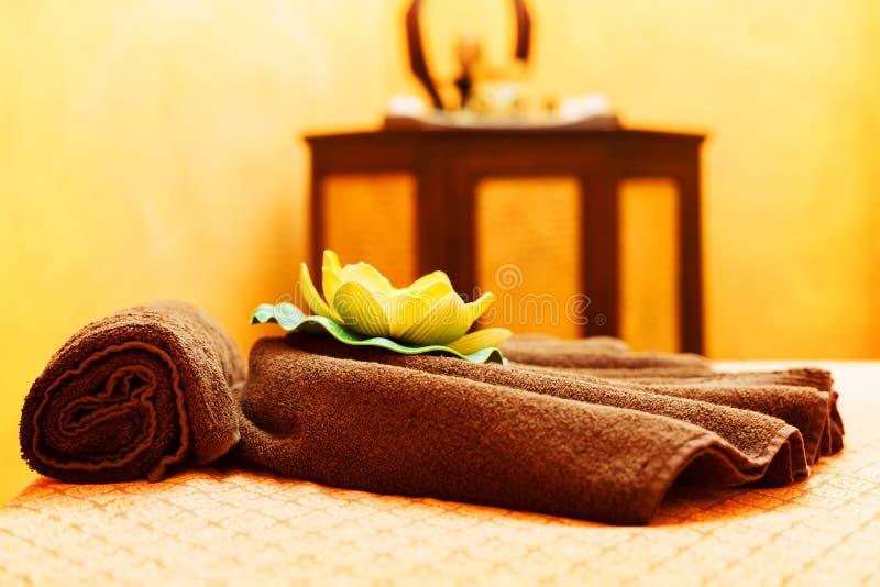 Tabla del masaje imagenes de archivo