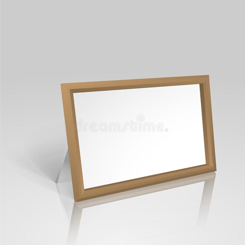 Tabla derecha en blanco realista con el capítulo de madera libre illustration