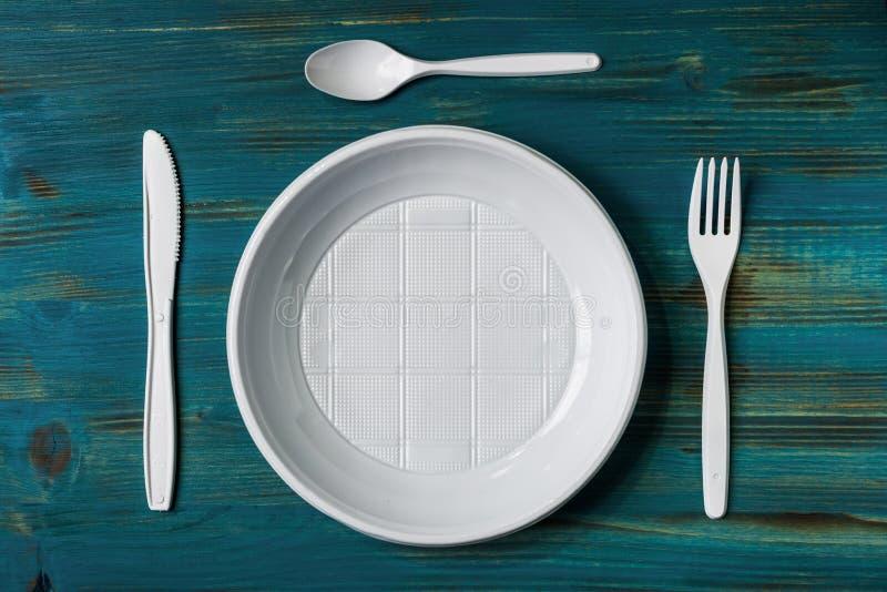 Tabla determinada del plato plástico foto de archivo