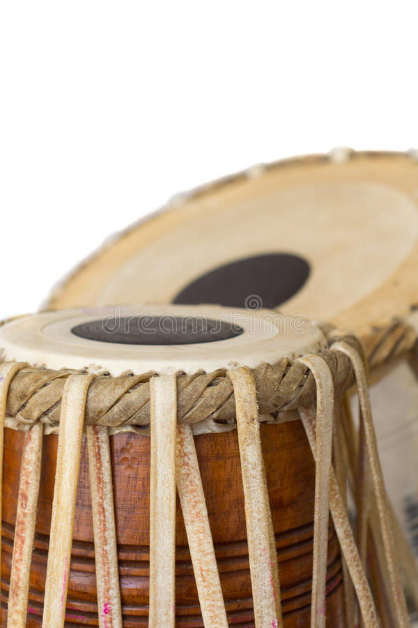Tabla Drum. Tabla indian drum against a white background royalty free stock images