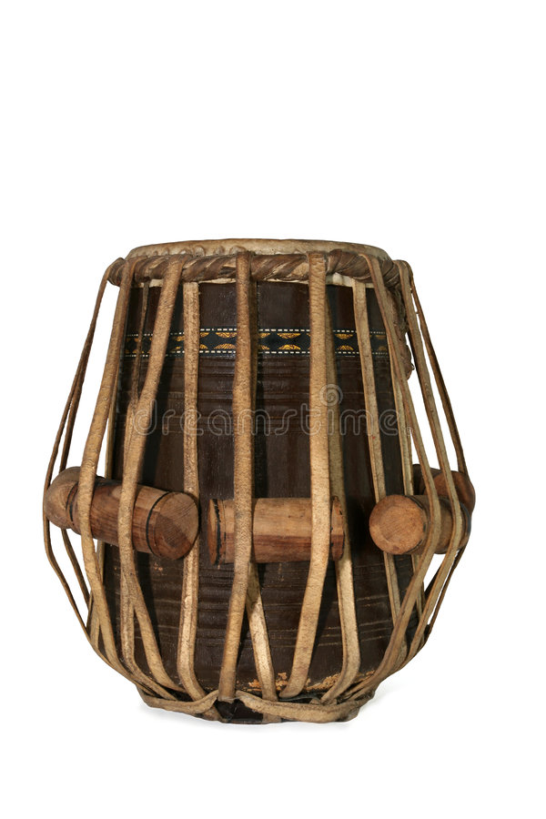 Tabla Drum. Tabla Indian drum against a white background royalty free stock photography