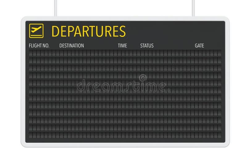 Tabla en blanco de las salidas del aeropuerto ilustración del vector
