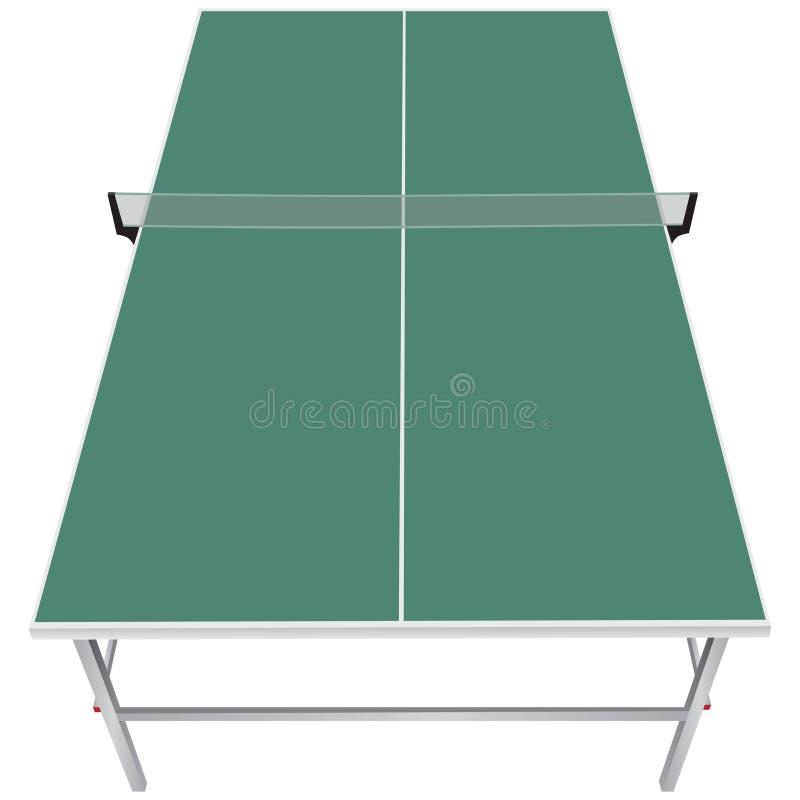 Tabla para los tenis de mesa ilustración del vector