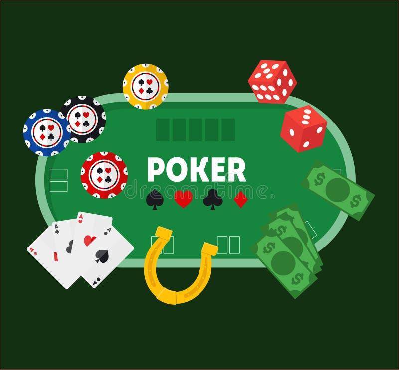 Tabla verde del póker Vector libre illustration