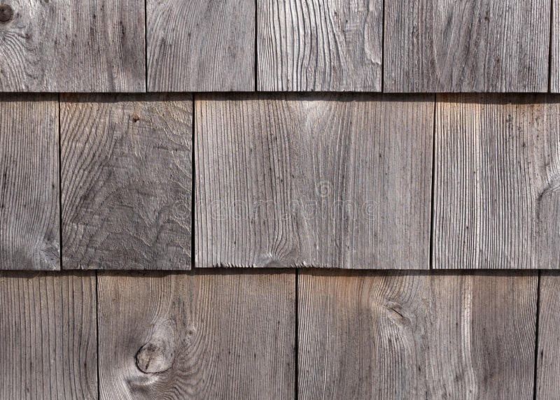 Tablas Graying de la pared exterior del cedro foto de archivo libre de regalías
