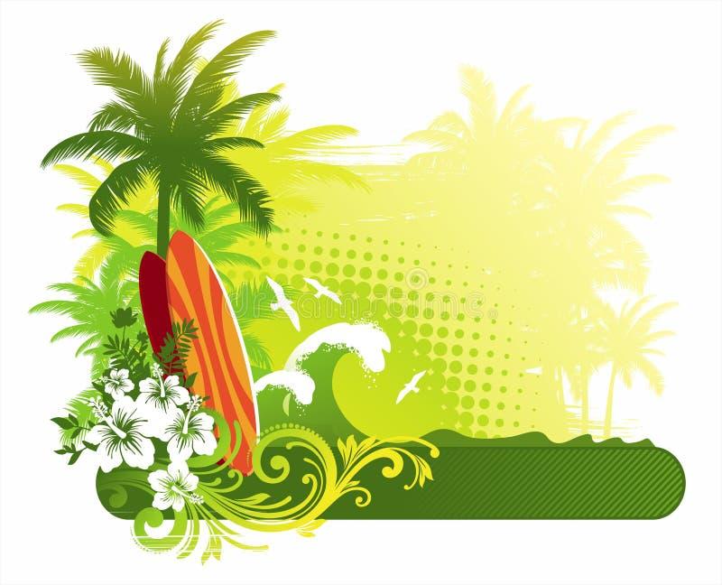 Tablas hawaianas stock de ilustración