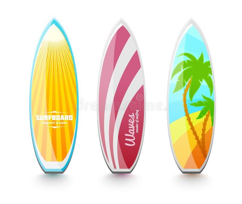 Tablas hawaianas para practicar surf stock de ilustraci n - Disenos de tablas de surf ...