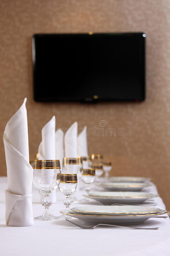 Download Table stock image. Image of ornate, flatware, place, glass - 12659741