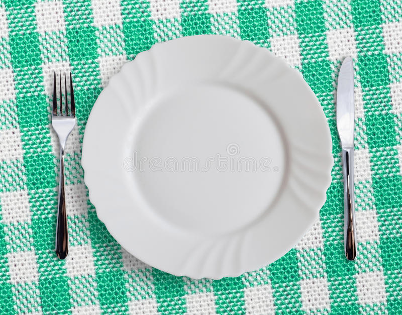 Download Table stock image. Image of checquered, empty, knife - 26571937