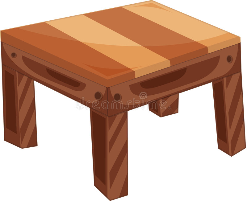 table illustration stock