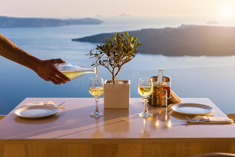 Table above sea for two royalty free stock photo