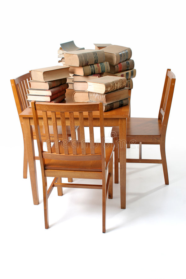 Free Table And Old Law Books Royalty Free Stock Photography - 1305617