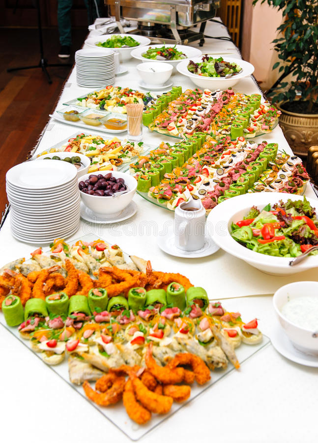 Table With Appetizers Stock Image Image Of Catered