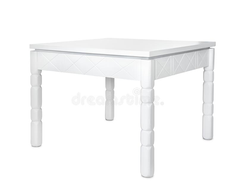 Table basse en bois blanche photographie stock