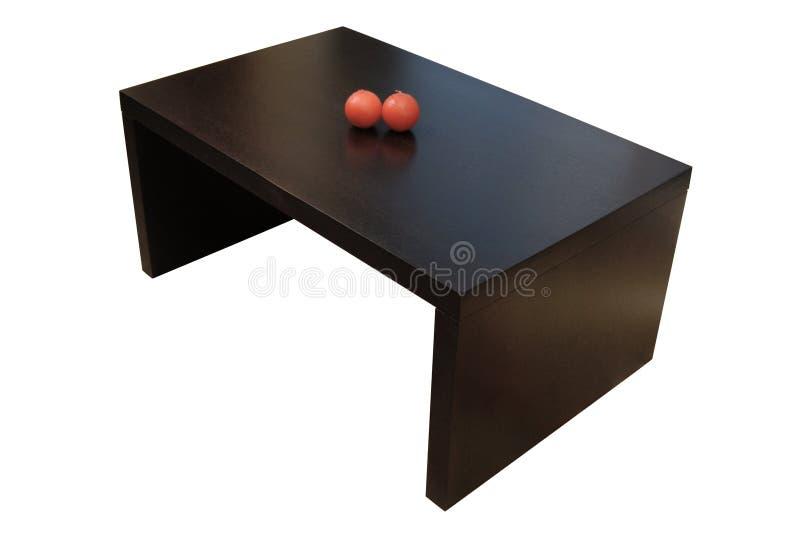Table basse en bois contemporaine d'isolement photos libres de droits