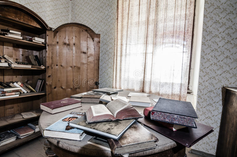 Table with books detail. Table with many books detail view royalty free stock images