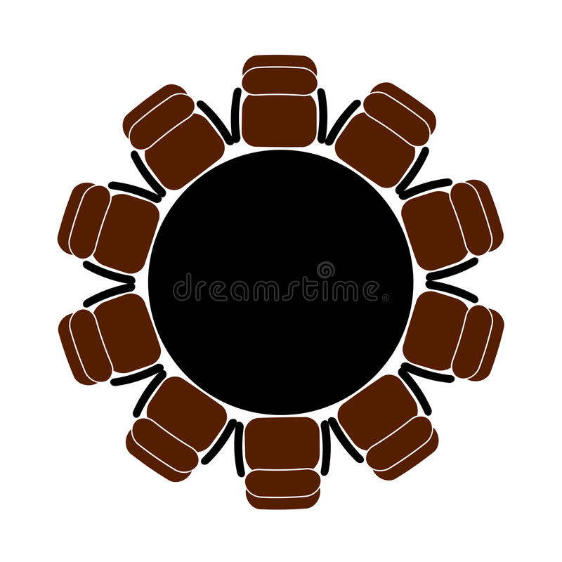 Table for business meetings stock illustration