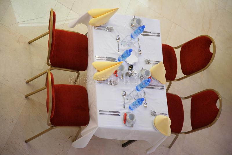 Download Table In Cafe From Top View Stock Image - Image: 7890993