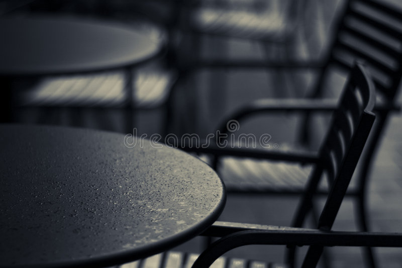 Table and chair stock photography