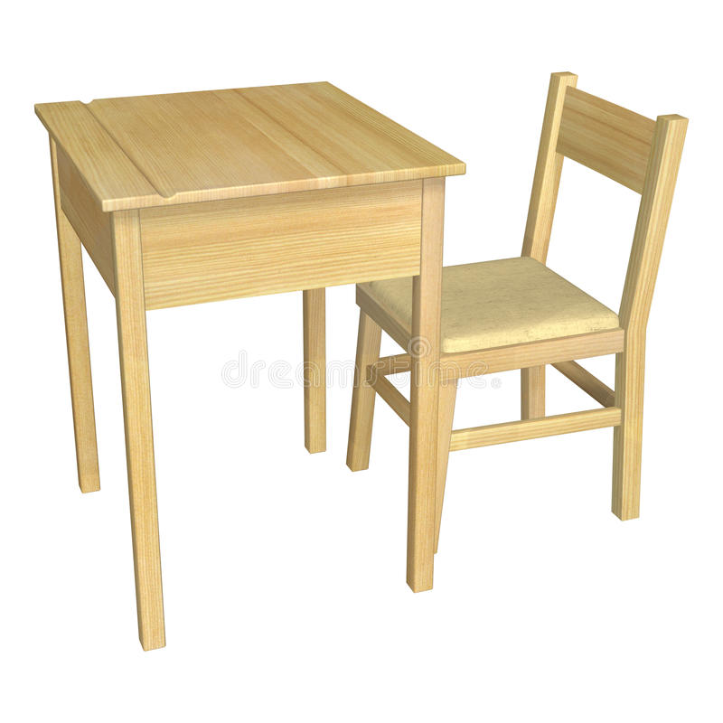 Download Table and Chair stock illustration. Illustration of empty - 43275978