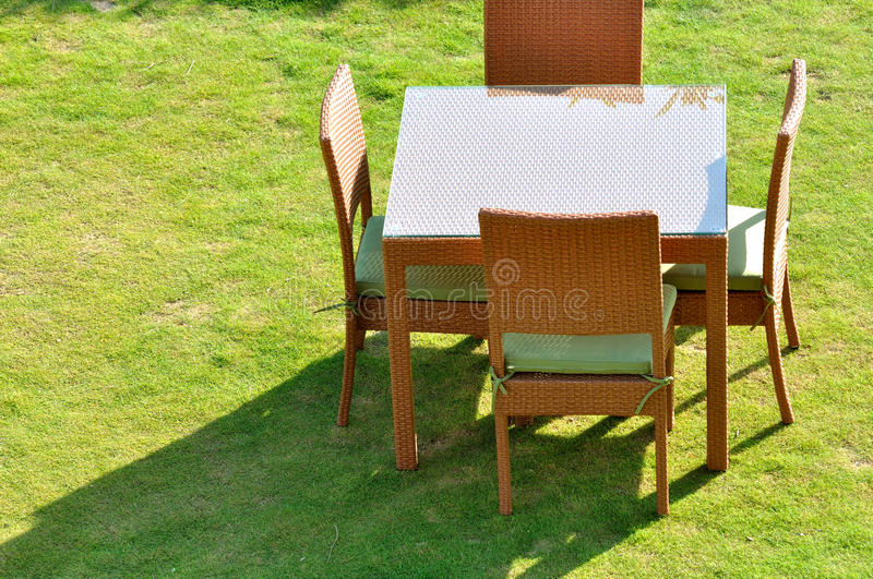 Table Chair And Shadow Stock Photo