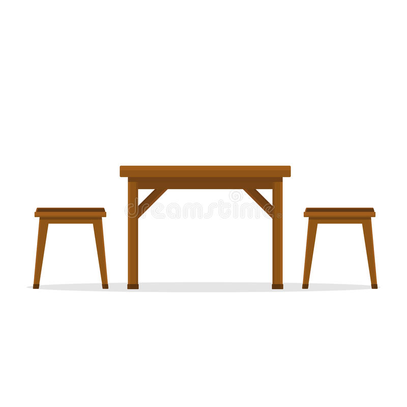 Download Table And Chair Side View Stock Vector Illustration Of Refreshment