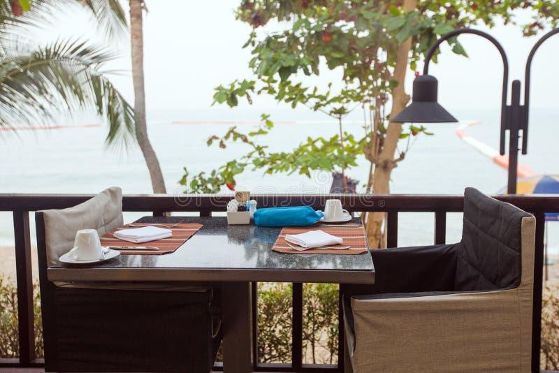 Dining zone of resort hotel stock photos
