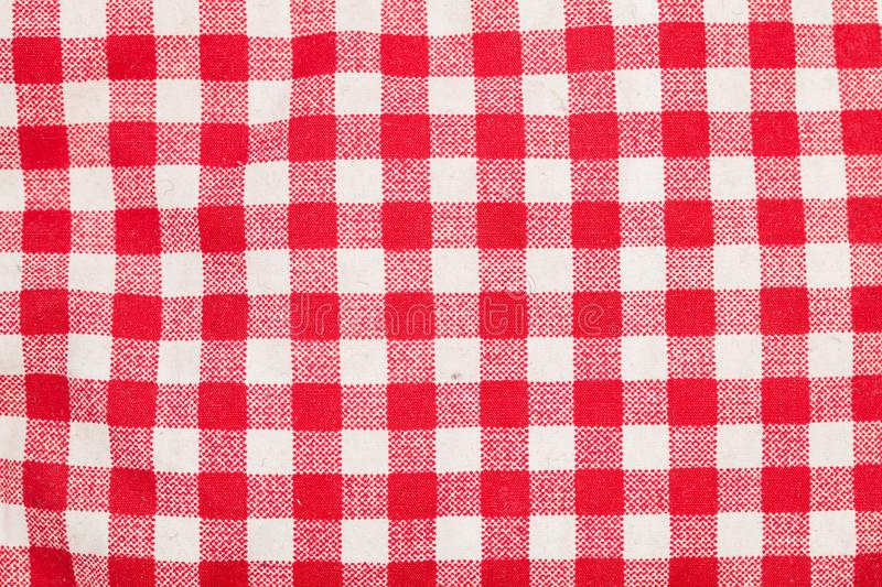 Table checkered rouge et blanche photos libres de droits